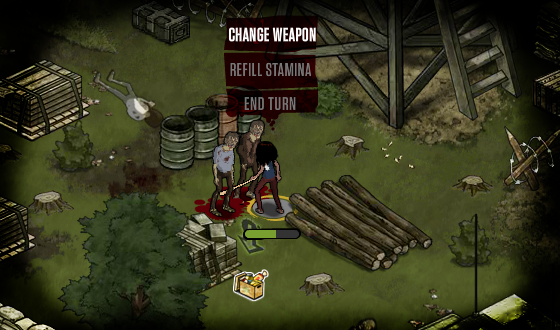 Switching Weapons During a Mission in <em>The Walking Dead</em> Social Game