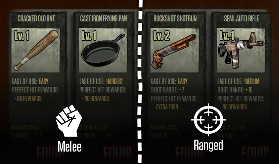 Choosing a Weapon in <em>The Walking Dead</em> Social Game