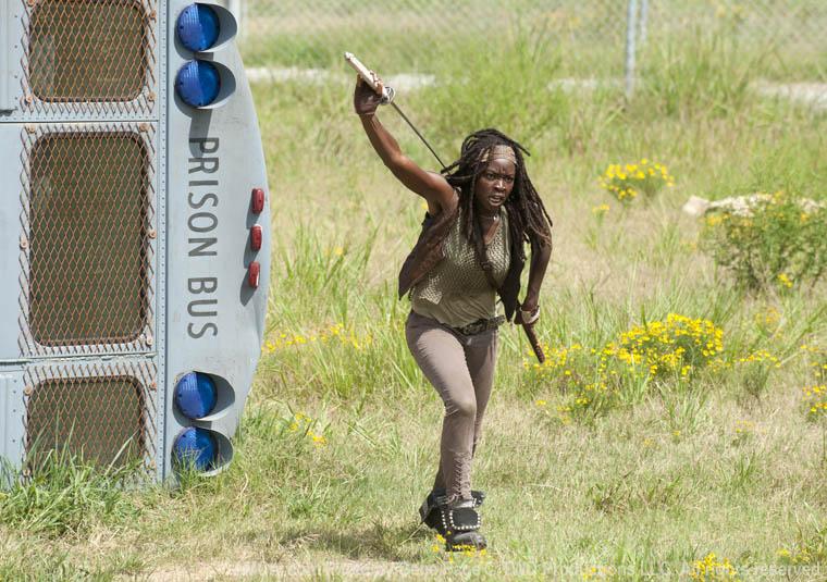 Michonne (Danai Gurira) in Episode 10 of The Walking Dead