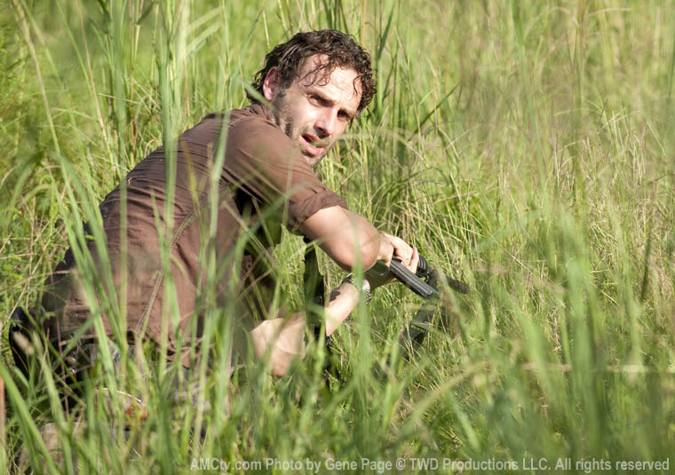 Rick Grimes (Andrew Lincoln) in Episode 10 of The Walking Dead
