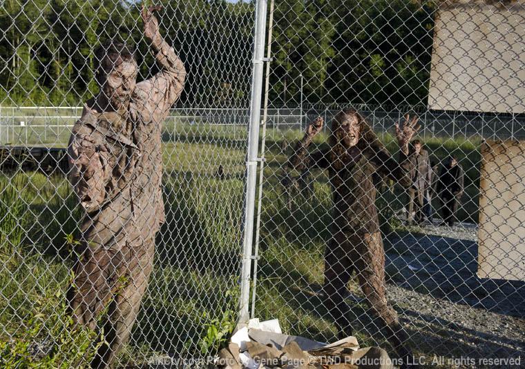 Walkers in Episode 11 of The Walking Dead