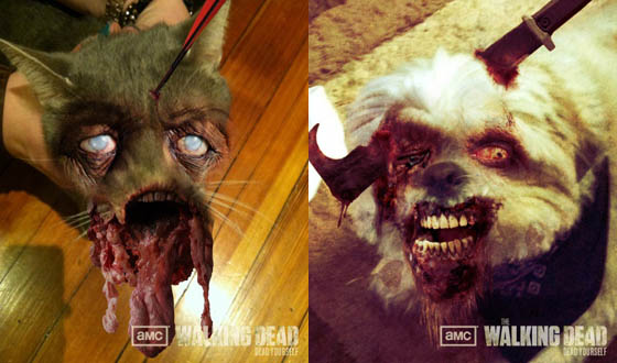 Photos – Zombified Pets From AMC's Dead Yourself App