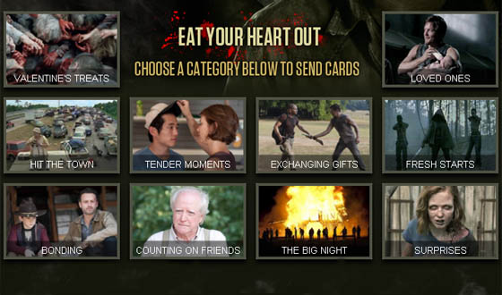 <em>The Walking Dead</em> Video Cards &#8211; Ready for Your Bloody Valentine