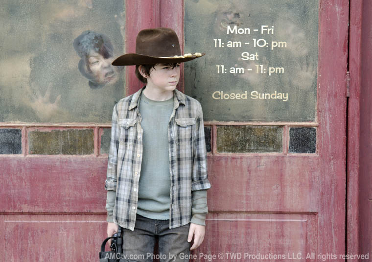 Carl Grimes (Chandler Riggs) in Episode 12 of The Walking Dead