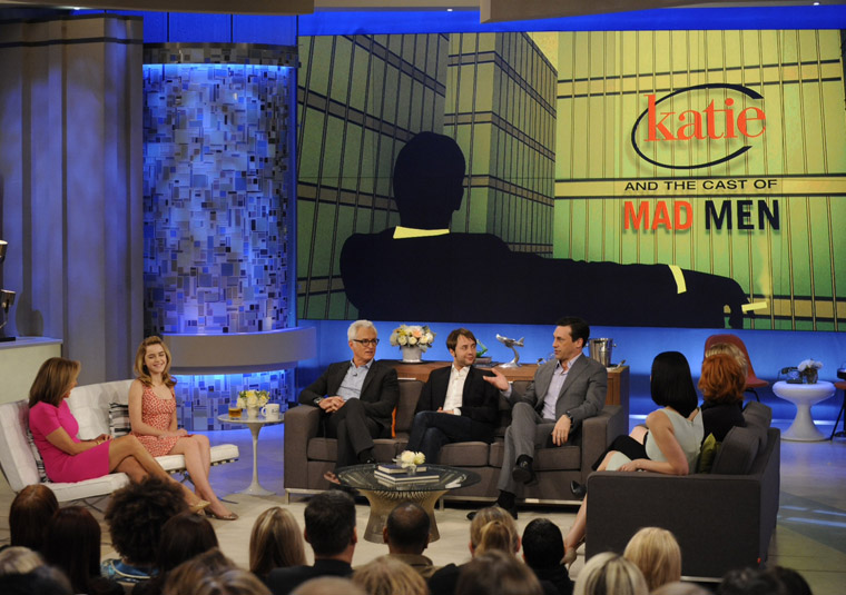The Mad Men cast makes a special guest appearance on Katie Couric's show, Katie.
