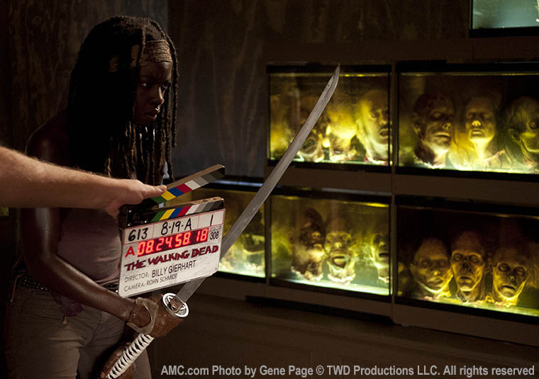 Danai Gurira (Michonne) in Episode 8 of The Walking Dead