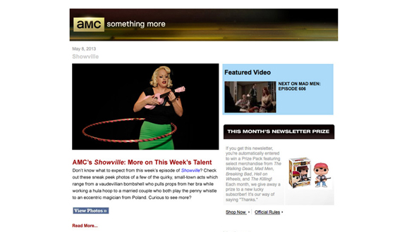 Want to Keep In-the-Know on AMC's <em>Showville</em>? Sign Up for the AMC Newsletter