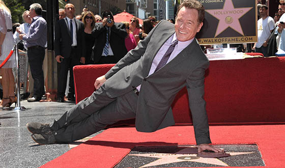 Bryan Cranston Gets a Star on Hollywood Walk of Fame