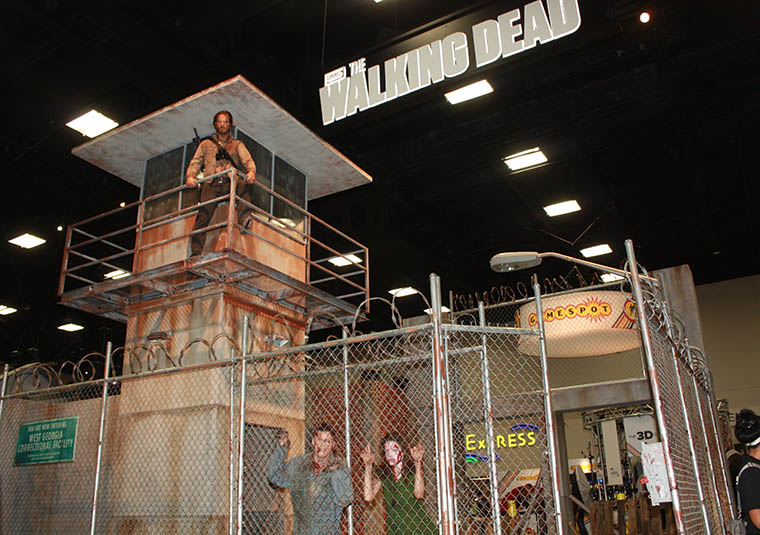 The Walking Dead Booth at Comic-Con 2013