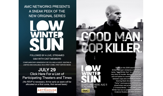 AMC Partners with Art House Convergence to Sneak Peek <em>Low Winter Sun</em> at Select Theaters