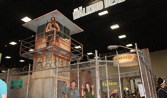 Your First Look at <em>The Walking Dead</em> Booth at Comic-Con 2013