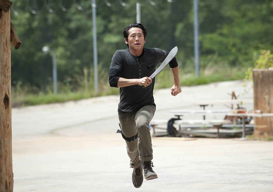 Glenn Rhee (Steven Yeun) in Episode 2 of The Walking Dead