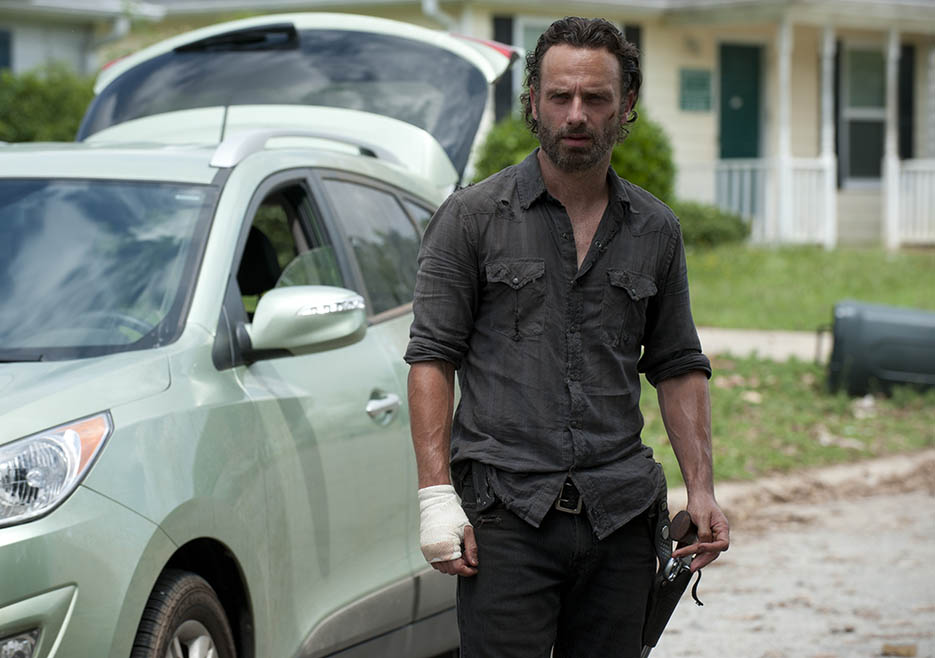 Rick Grimes (Andrew Lincoln) in Episode 4 of The Walking Dead