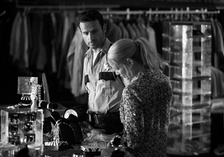 Rick Grimes (Andrew Lincoln) and Andrea (Laurie Holden) in in Episode 2 of The Walking Dead