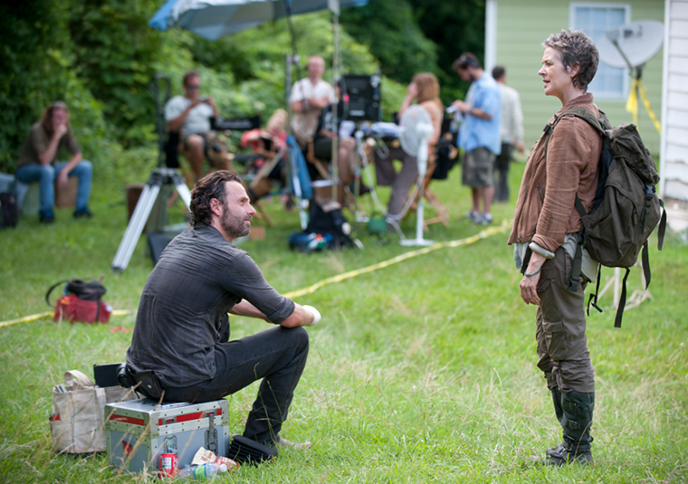 Andrew Lincoln (Rick Grimes) and Melissa McBride (Carol Peletier) in Episode 4 of The Walking Dead