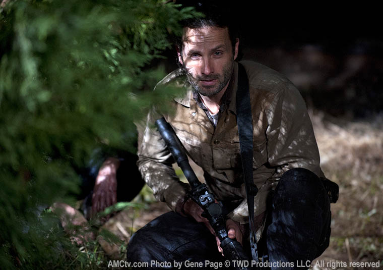Rick Grimes (Andrew Lincoln) in Episode 16 of The Walking Dead