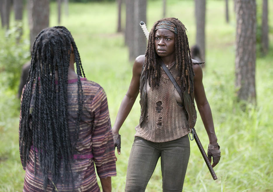 Michonne (Danai Gurira) in Episode 9 of The Walking Dead