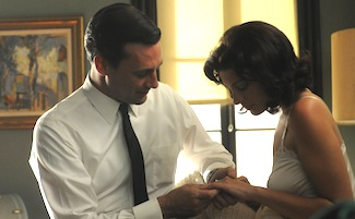 Don Draper (Jon Hamm) and Megan Calvet (Jessica Pare) - Mad Men