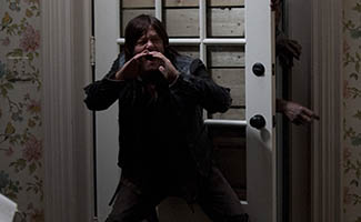 Daryl Dixon (Norman Reedus) and Walker - The Walking Dead