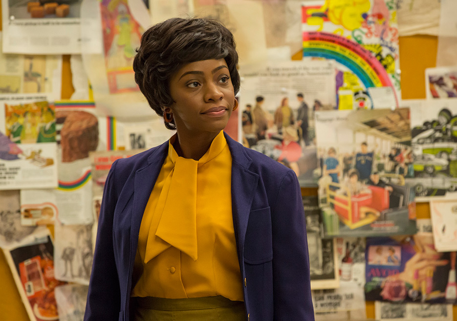 Dawn Chambers (Teyonah Parris) in Mad Men