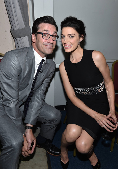 Jon Hamm (Don Draper) and Jessica Pare (Megan Draper) from Mad Men