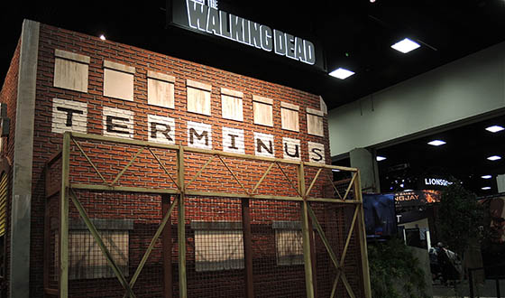 Your First Look at The Walking Dead Booth at Comic-Con 2014
