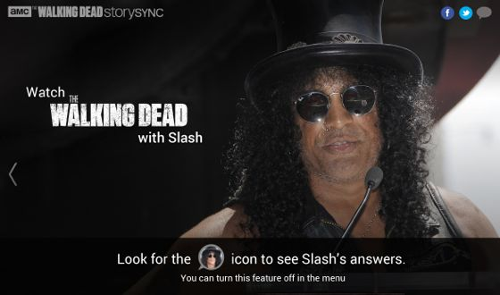 Watch <em>The Walking Dead</em> Along With Slash This Sunday at 9/8c, Using Story Sync