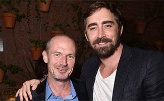 Photos – <em>Halt and Catch Fire</em>'s Lee Pace and Toby Huss at Holiday Press Reception