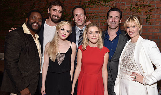 Photos – Jon Hamm, Emily Kinney and Fellow AMC Stars Mingle at Holiday Press Reception