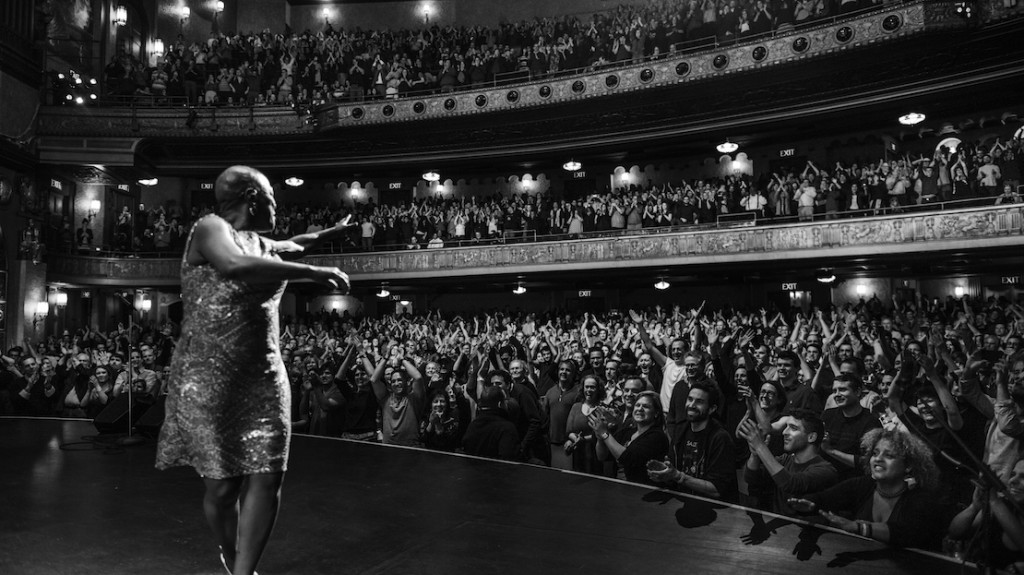 New York, NY - February 2, 2014 - Sharon Jones performs at the Beacon Theater following cancer treatment. CREDIT: Jacob Blickenstaff
