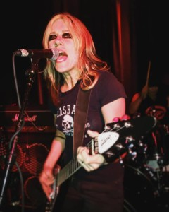 Donita Sparks of L7 performs following the DOC NYC screening of L7: Pretend We're Dead (Photo by Kate Hoos)