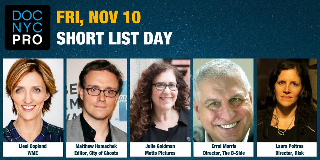 DOC NYC PRO: SHORT LIST DAY