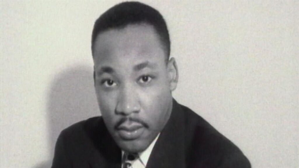 Black & white portrait of Martin Luther King Jr.