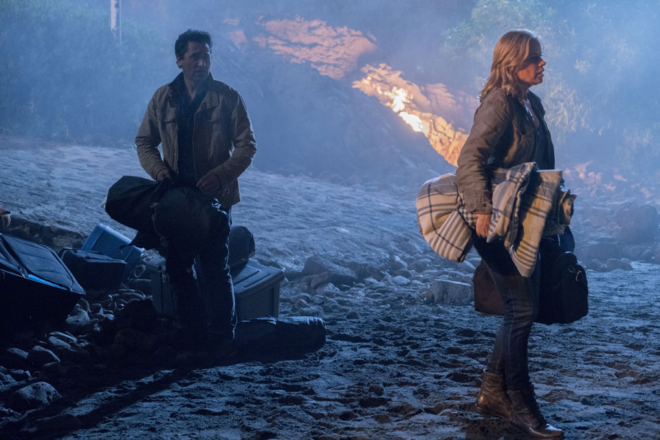 Travis Manawa (Cliff Curtis) and Madison Clark (Kim Dickens) in Episode 1 Photo by Richard Foreman/AMC