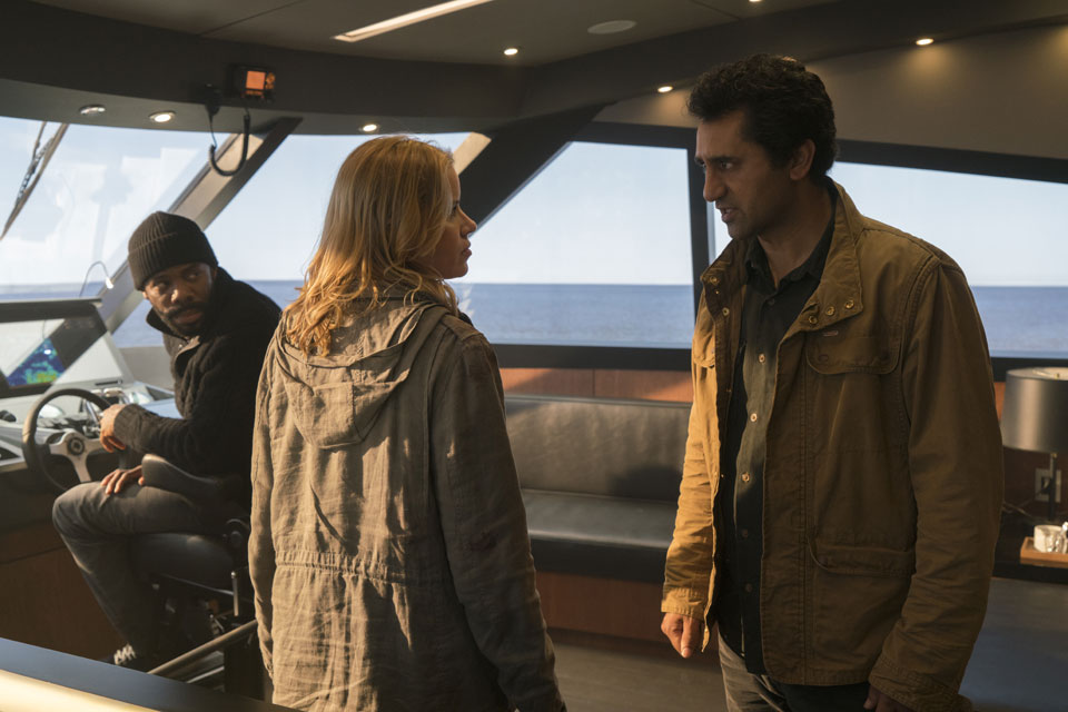 Victor Strand (Colman Domingo), Madison Clark (Kim Dickens) and Travis Manawa (Cliff Curtis) in Episode 1 Photo by Richard Foreman/AMC
