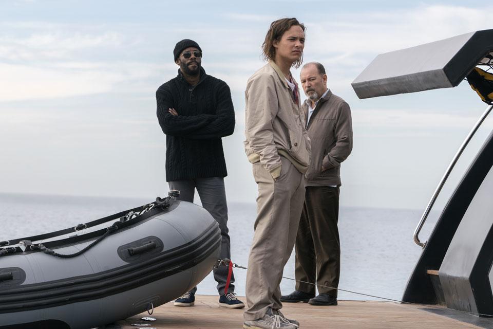 Victor Strand (Colman Domingo), Nick Clark (Frank Dillane) and Daniel Salazar (Ruben Blades) in Episode 1 Photo by Richard Foreman/AMC