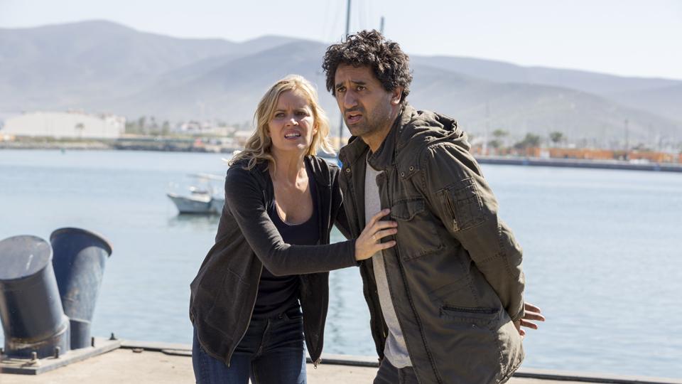 Madison Clark (Kim Dickens) y Travis Manawa (Cliff Curtis) en Episodio 5 Photo by Richard Foreman/AMC