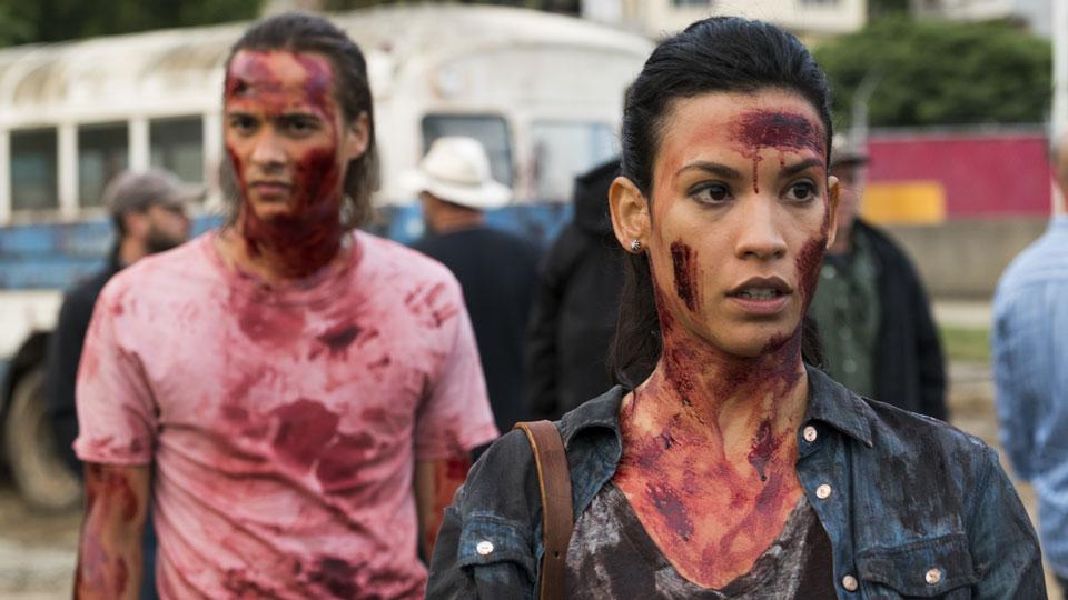 Nick Clark (Frank Dillane) y Luciana (Danay Garcia) en Episodio 9 Photo by Richard Foreman/AMC