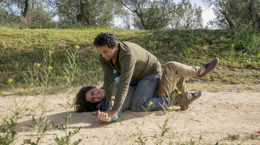 Cliff Curtis as Travis Manawa, Lorenzo James Henrie as Chris Manawa - Fear The Walking Dead _ Season 2, Episode 07 -  Photo Credit: Richard Foreman, Jr/AMC