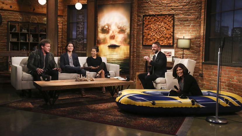 Chris Hardwick, Chris Jericho, Lorenzo James Henrie (Chris Manawa) and Michelle Ang (Alex) no Episódio 3 Photo by Jordin Althaus/AMC