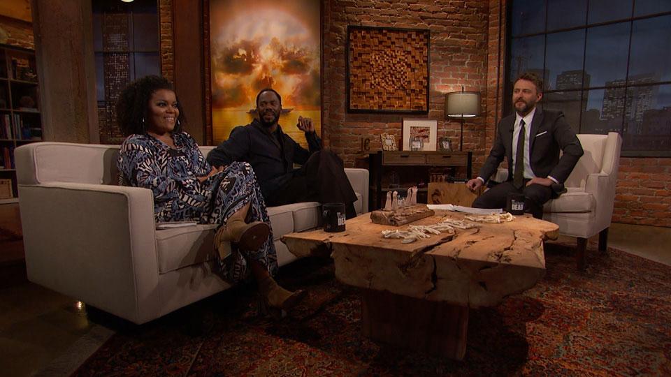Chris Hardwick, Yvette Nicole Brown e Colman Domingo (Victor Strand) no Episódio 3