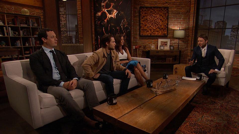 Chris Hardwick, Mercedes Mason (Ofelia Salazar), o ator Dylan Sprayberry e o Produtor Executivo David Alpert