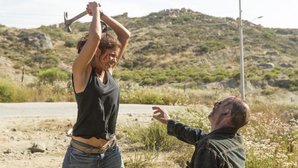 Ofelia Salazar (Mercedes Mason) no Episódio 14 Foto de Richard Foreman/AMC