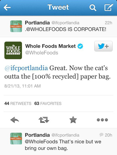 Twitter is OVER, Thanks Whole Foods – IFC