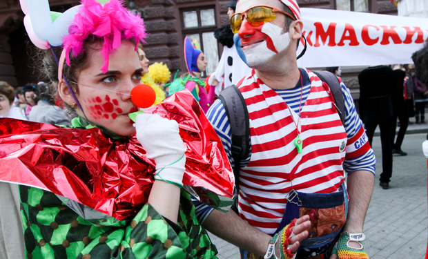 clown-protest