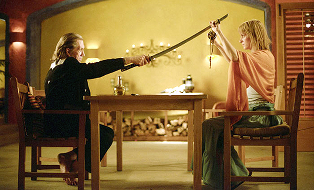 KILL BILL: VOLUME 2, David Carradine, Uma Thurman, 2004. (c)Miramax. Courtesy: Everett Collection.