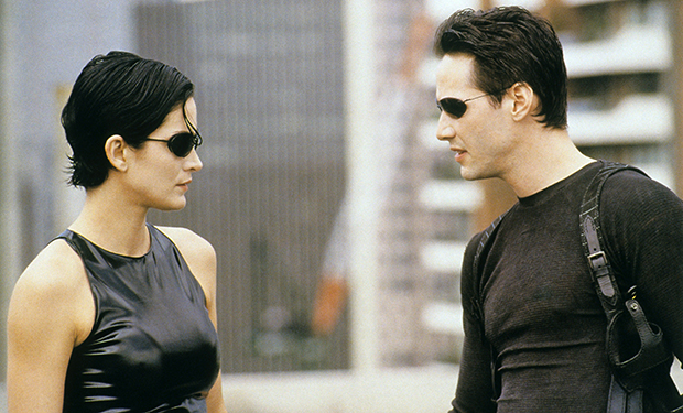 THE MATRIX, Carrie Anne Moss, Keanu Reeves, 1999. ©Warner Bros
