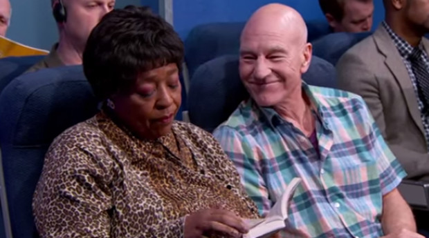 Patrick Stewart Annoying People on Airplane