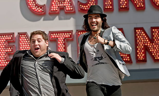GET HIM TO THE GREEK, from left: Jonah Hill, Russell Brand, 2010. ph: Glen Wilson/©Universal Picture
