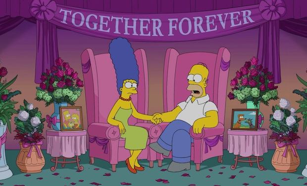 The Simpsons divorce